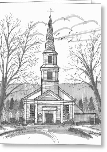 Hurley Reformed Church Greeting Card