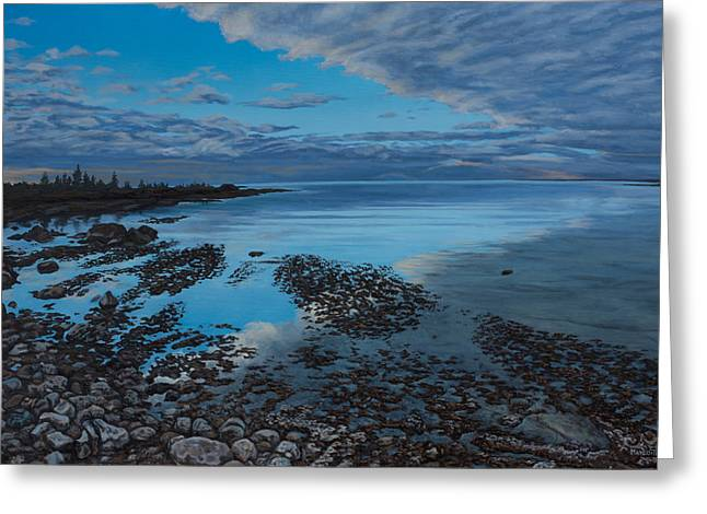 Huron Horizon Greeting Card by Michael Marcotte