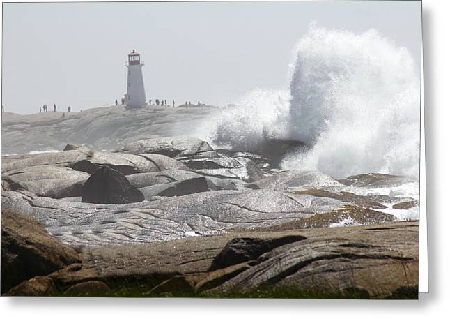 Hurricane Irene At Peggy's Cove Nova Scotia Canada Greeting Card