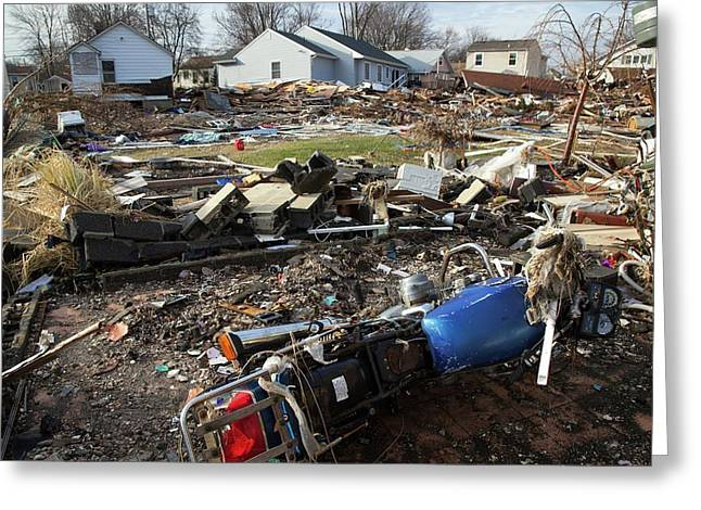Hurricane Sandy Damage Greeting Card