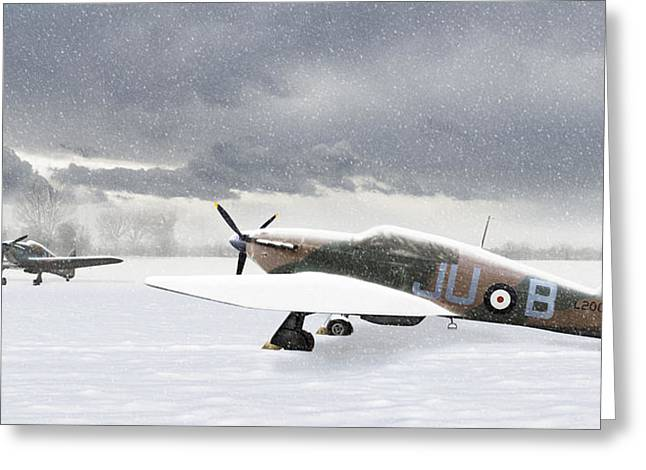 Hurricanes In The Snow Greeting Card