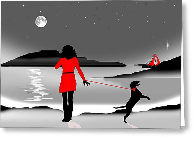 Hurry Back Darling Greeting Card by Peter Stevenson