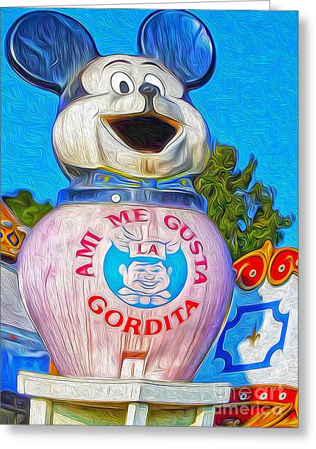 Husky Boy Mouse-cot Greeting Card by Gregory Dyer