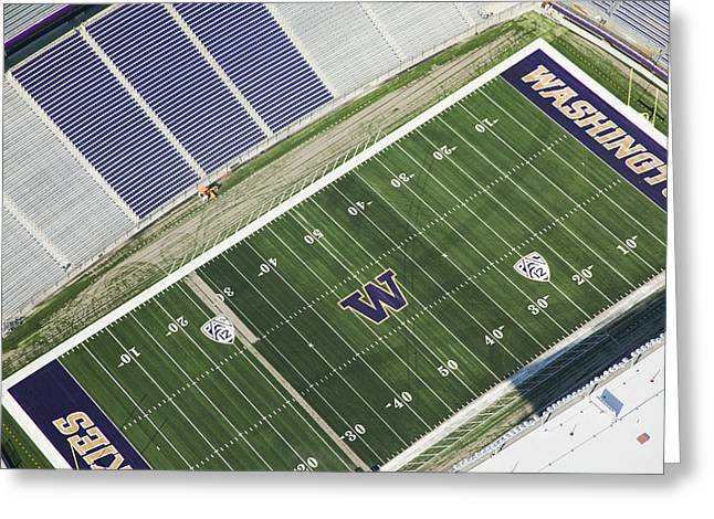 Husky Stadium At The University Greeting Card