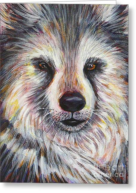 Husky Wolf Greeting Card by Gayle Utter