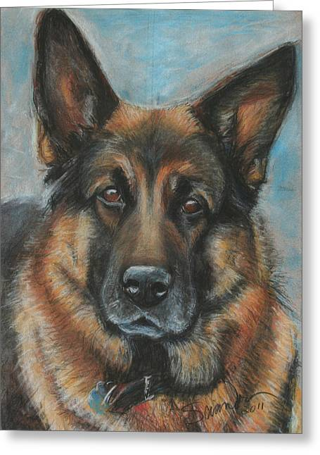 Hussler-german Shepherd Dog Greeting Card