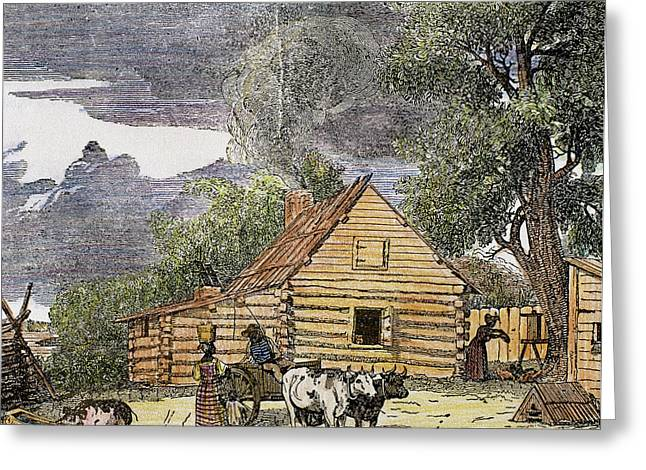 Hut Virginia, 1848 United States Greeting Card