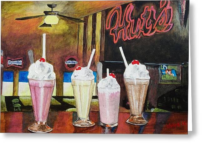 Hut's Milkshake Heaven Greeting Card