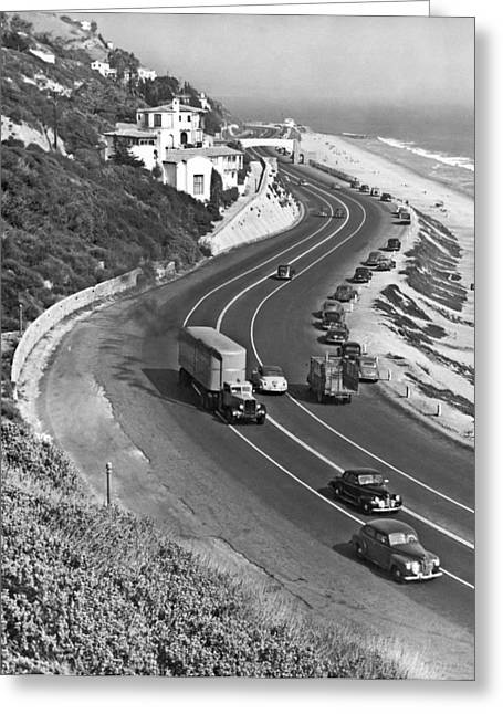 Hwy 101 In Southern California Greeting Card