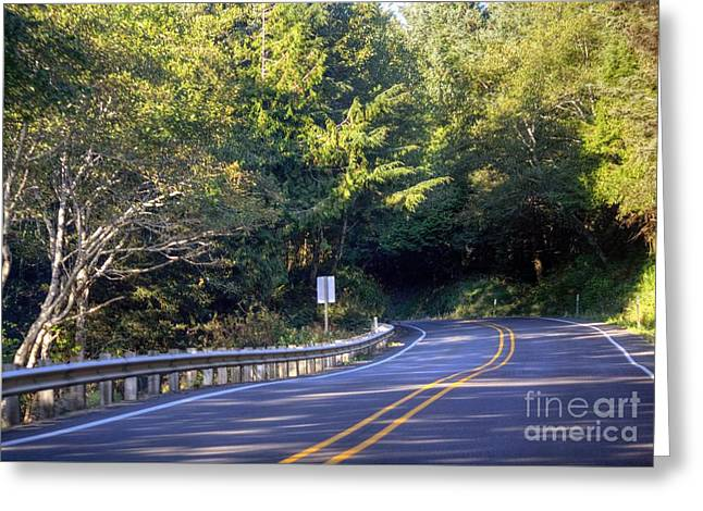 Hwy 101 North Greeting Card by Chris Anderson