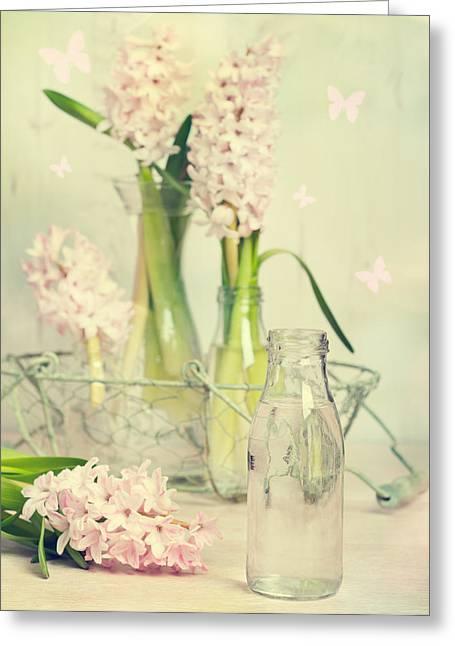 Hyacinth Arrangement Greeting Card by Amanda Elwell