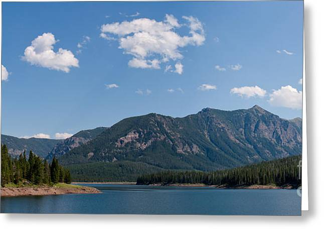 Hyalite Reservoir -- South View Greeting Card by Charles Kozierok