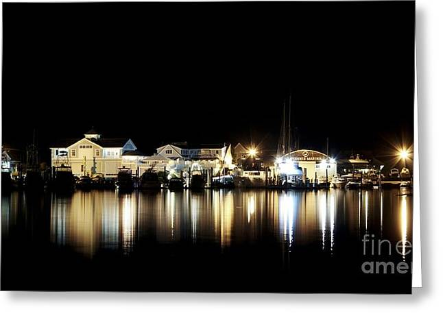 Hyannis At Night Greeting Card