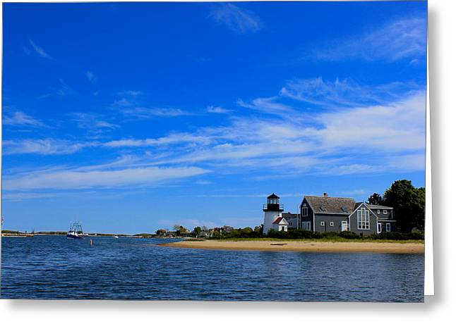 Greeting Card featuring the photograph Hyannis Harbor by Amazing Jules