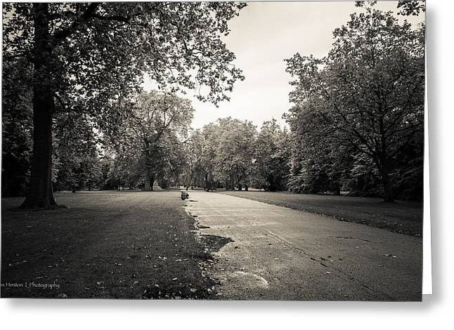 Hyde Park - For Eugene Atget Greeting Card by Ross Henton
