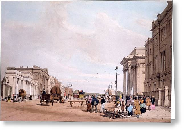 Hyde Park Corner, Looking Greeting Card by Thomas Shotter Boys