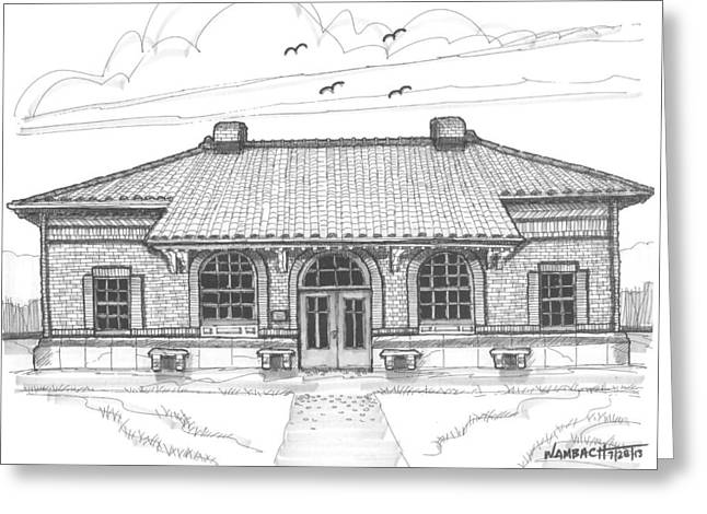 Hyde Park Historic Train Station Greeting Card