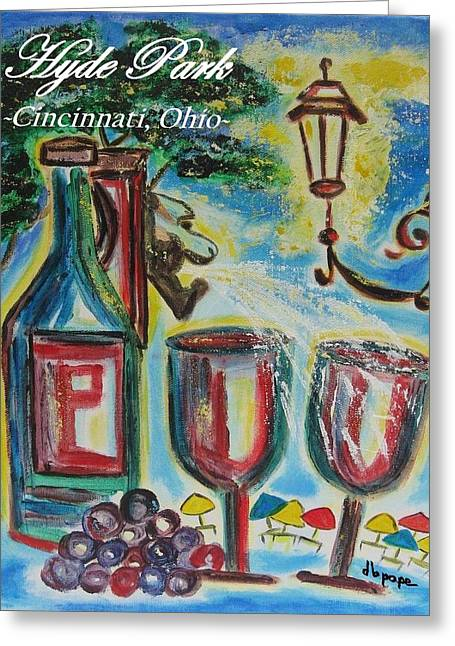 Hyde Park Square - Cincinnati Ohio Greeting Card by Diane Pape