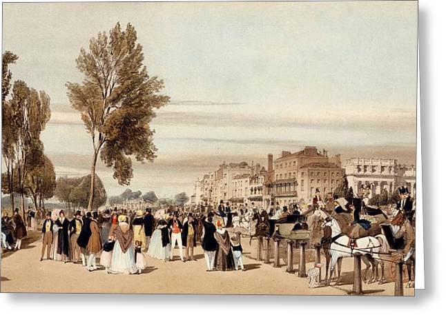 Hyde Park, Towards The Grosvenor Gate Greeting Card by Thomas Shotter Boys