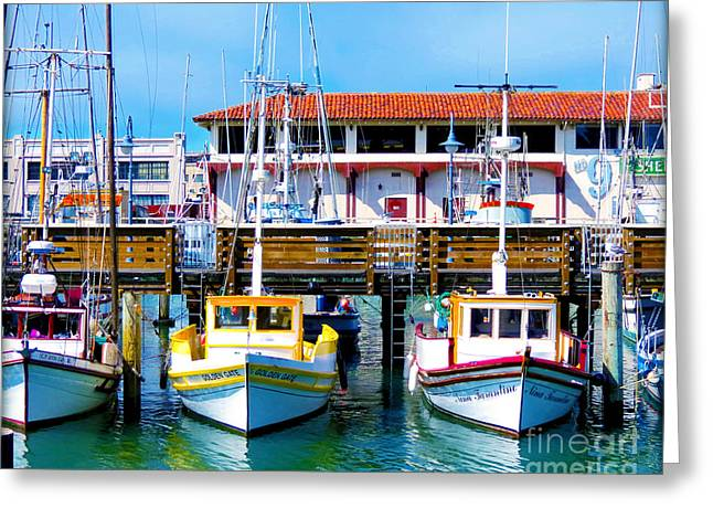 Hyde Street Pier Greeting Card by Chris Andruskiewicz