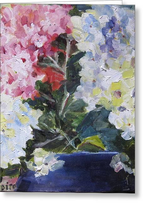 Hydrangea Blue Greeting Card