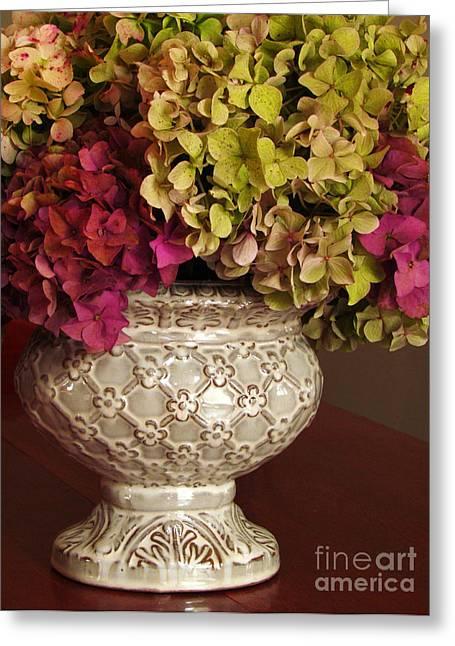 Hydrangea Bouquet   Greeting Card