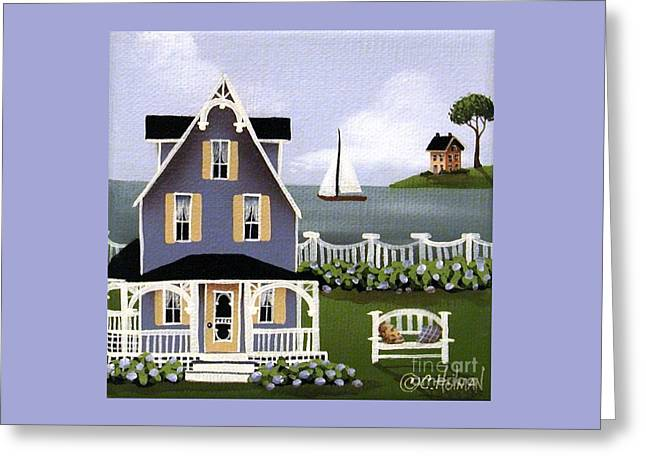 Hydrangea Cove Greeting Card by Catherine Holman
