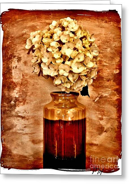 Hydrangea In A Vase Greeting Card by Marsha Heiken