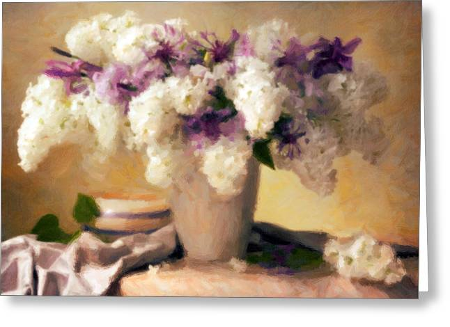 Hydrangea Summer Display Greeting Card by Georgiana Romanovna