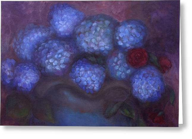 Hydrangeas Greeting Card by Susan Hanlon