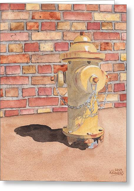 Hydrant Greeting Card by Ken Powers