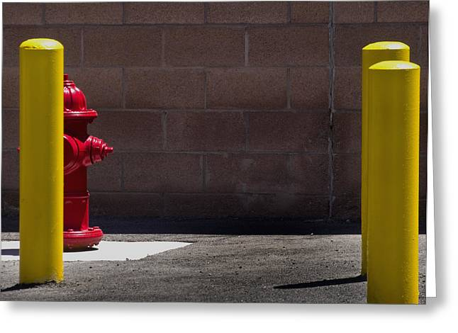 Hydrant Greeting Card by Kevin Duke