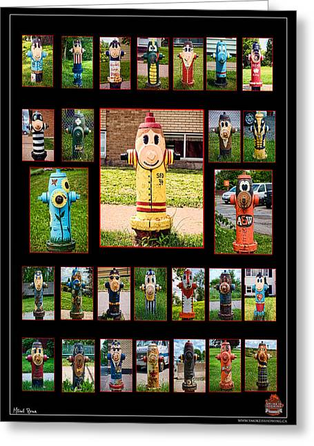 Hydrants Greeting Card by Mitchell Brown