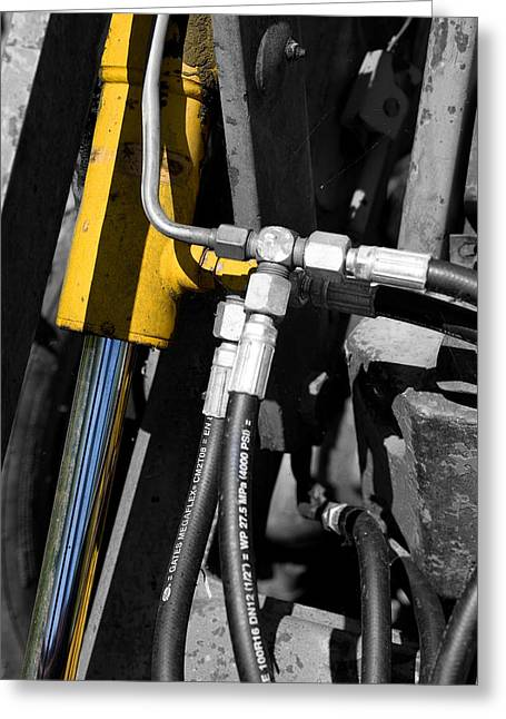 Hydraulic Muscle Greeting Card by Paul Lilley