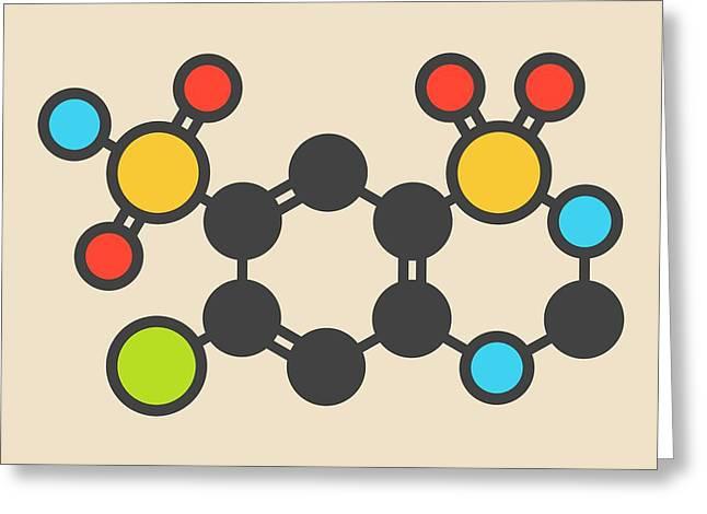 Hydrochlorothiazide Diuretic Molecule Greeting Card by Molekuul