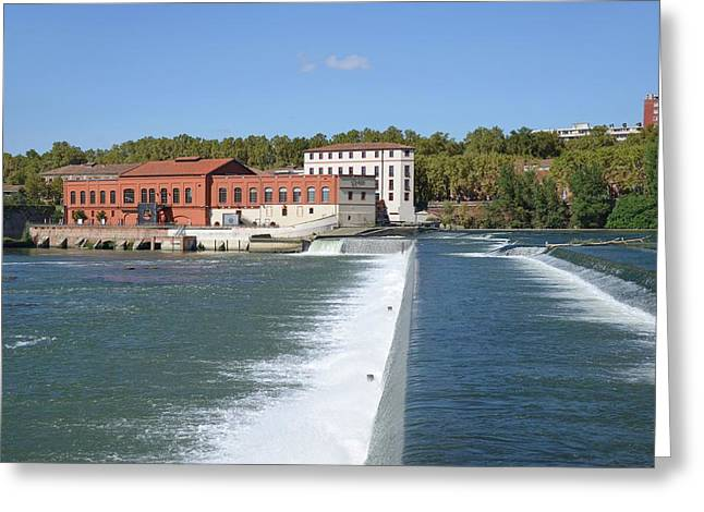 Hydroelectric Barrage Greeting Card by Chris Hellier