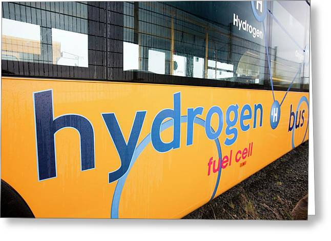 Hydrogen Bus Greeting Card by Ashley Cooper