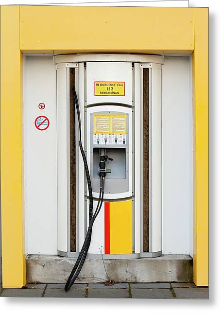 Hydrogen Filling Station Greeting Card by Ashley Cooper