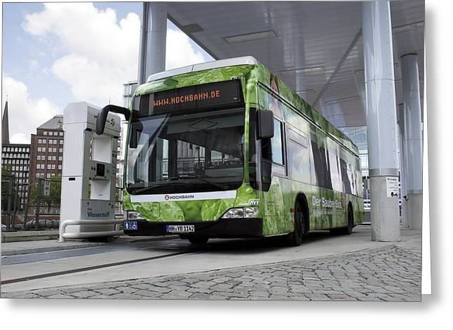 Hydrogen Fuel Cell Bus Greeting Card