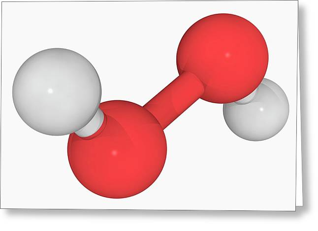 Hydrogen Peroxide Molecule Greeting Card by Laguna Design/science Photo Library