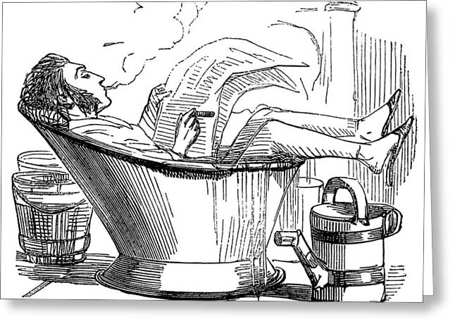 Hydrotherapy, Hot Weather Self-cure Greeting Card by Wellcome Images