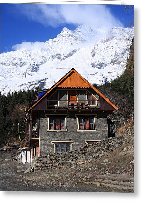 Hymalayan Mountain Village - Nepal Greeting Card