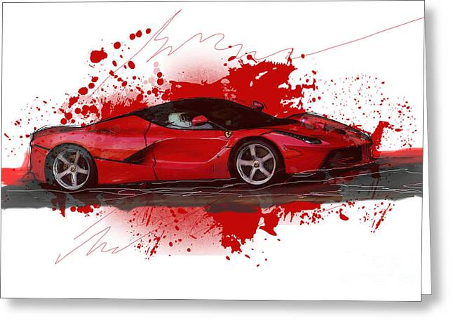 Hyper Car Greeting Card
