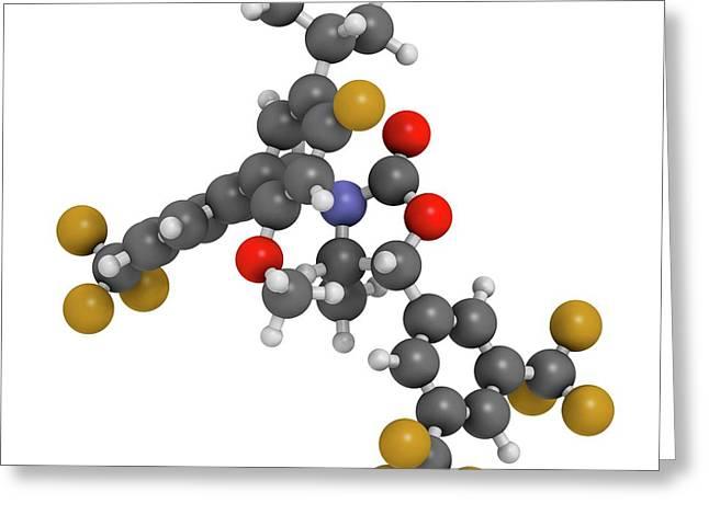 Hypercholesterolemia Drug Molecule Greeting Card by Molekuul