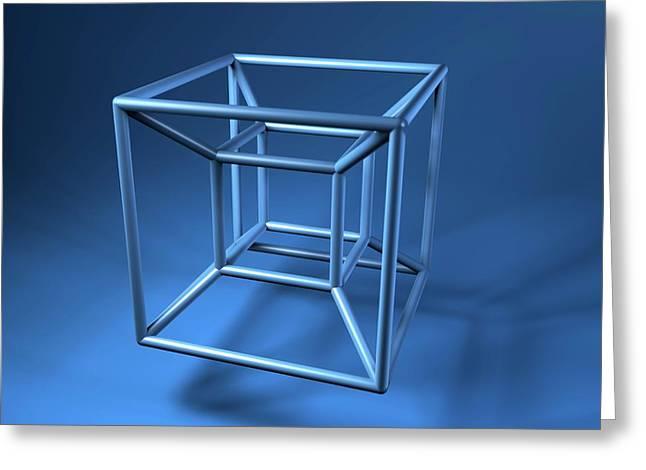 Hypercube Greeting Card
