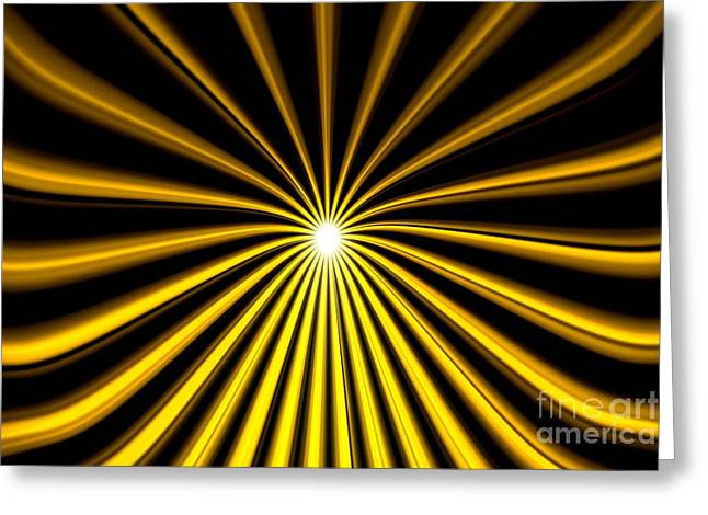 Hyperspace Gold Landscape Greeting Card