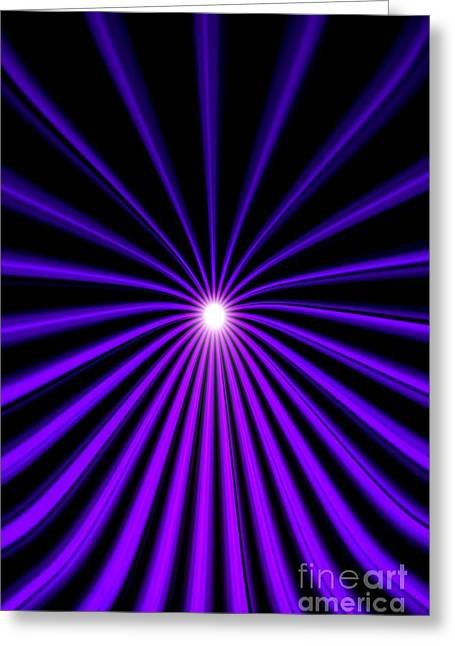 Hyperspace Violet Portrait Greeting Card