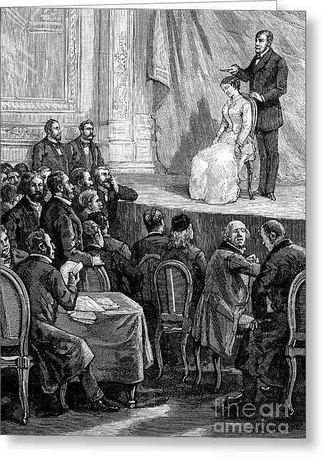 Hypnosis Demonstration, 19th Century Greeting Card by Spl