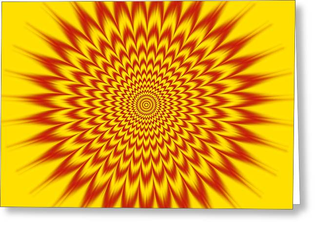 Hypnotic Vibes Greeting Card