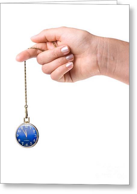Hypnotic Watch Greeting Card
